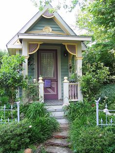 Cecile's Garden - victorian style garden shed; could make a cute tiny home!