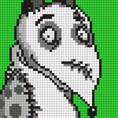 Sparky From Frankenweenie Square Perler Bead Pattern / Bead Sprite