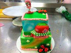 Strawberry Shortcake 2 tier Email me for cakes!  Belongstomord@gmail.com Frisco tx