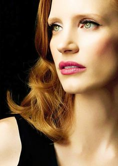 maybe too glam, but still into the makeup. can see her as various character types here [Jessica Chastain]