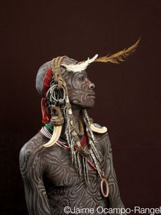 Africa |  Mursi man from the Omo Valley, Ethiopia. Photo credit:  Jaime Ocampo Rangel - How amazing!!!