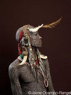 Africa    Mursi man from the Omo Valley, Ethiopia. Photo credit:  Jaime Ocampo Rangel - How amazing!!!