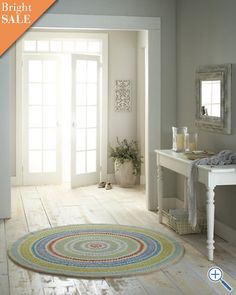 absolutely love this rug. so bright and fun. kitchen maybe?