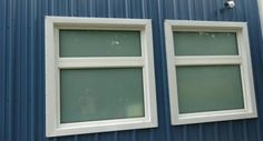 """These carefully selected windows compliment the siding well and prove that Buck Steel metal retail buildings don't have to look """"commercial""""."""
