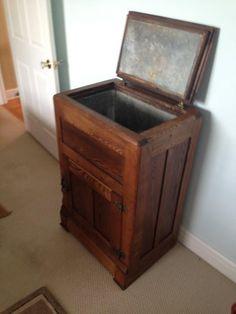 NET Zinc lined antique ice box & Vintage 1920s Oak Ice Box Refrigerator Storage. $395.00 via Etsy ... Aboutintivar.Com