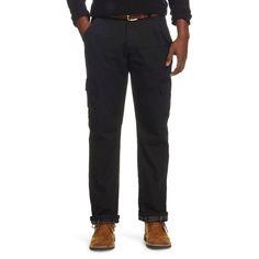 Wrangler Men's Flannel Lined Cargo Pants Black 34X32