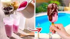 Fun Baking Recipes, Candy Recipes, Rose Ice Cream, Watermelon Ice Cream, Realistic Cakes, Fruit Smoothie Recipes, 5 Minute Crafts Videos, Crazy Cakes, Homemade Ice Cream