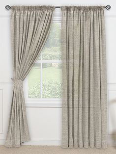 Pure Linen Voile Taupe Curtains From Curtains 2go