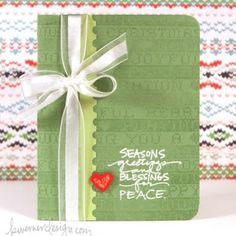 Video tutorial to make this Christmas card.  Plus link to tips for planning mass-produced cards =)
