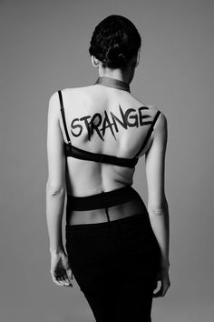 I love it. To be strange and different!!