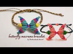 Macrame Bracelet Diy, Macrame Bracelet Patterns, Diy Jewelry, Beaded Jewelry, Beaded Bracelets, Butterfly Bracelet, Macrame Design, Micro Macrame, Diy And Crafts