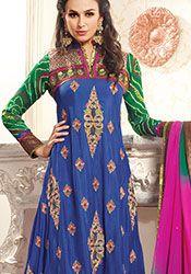 Blue Viscose Pakistani Suit