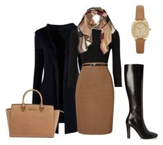"""""""Ready for Winter"""" by rosamar6666 on Polyvore featuring Phase Eight, Yves Saint Laurent, Michael Kors and Burberry"""