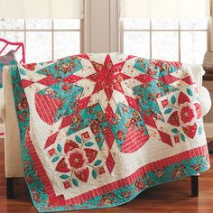 Bursting with Blooms Quilt Kit by Diane Nagel, featured in American Patchwork & Quilting February 2014
