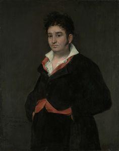 Francisco José de Goya y Lucientes   Portrait of Don Ramón Satué, Francisco José de Goya y Lucientes, 1823   Portret van Don Ramón Satué. Lid van de Sala de Alcaldes de Corte per la Audiencia Territorial de Madrid. Heupstuk, naar links, staande met de handen in de zakken.