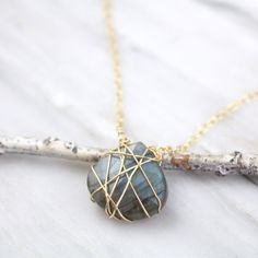 Tanlged Labradorite Gold Necklace Silver Earrings, Gold Necklace, Pearl Earrings, Pendant Necklace, Jewelry Box, Unique Jewelry, Gold Wire, Etsy Shipping, Labradorite