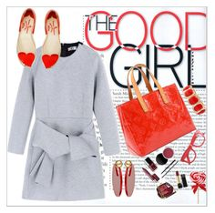 """Grey and red"" by simona-altobelli ❤ liked on Polyvore featuring MSGM, Vivienne Westwood Anglomania + Melissa, Louis Vuitton, Marni, Monet, J.Crew, MyStyle and greyandred"
