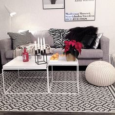Two hay tray tables, grey couch Hay Tray Table, Grey Couches, Sitting Rooms, Steel Furniture, Living Room, House Styles, Decoration, Simple, Projects