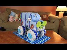 "▶ Diaper Utility Vehicle ""DUV"" Diaper Cake - YouTube"