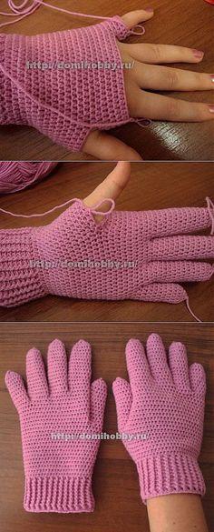 Knitting Crochet luva