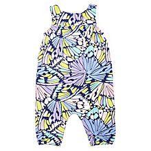 Buy Margherita Kids Baby Butterfly Print Romper, Blue/Multi Online at johnlewis.com
