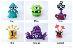 3D Quilling Facebook Monster Mascots