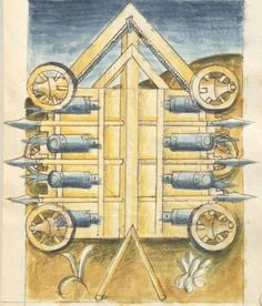Bellifortis VerfasserKyeser, Conradus  ErschienenElsaß, [um 1460] Ms. germ. qu. 15  Folio 54r