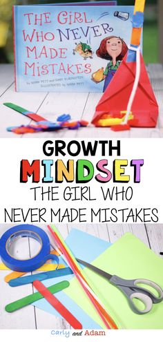 The Girl Who Never Made Mistakes Growth Mindset STEM Activity: Students learn the importance of mistakes in having a Growth Mindset! This Growth Mindset STEM Activity is a great companion to The Girl Who Never Made Mistakes by Mark Pett and Gary Rubinstein! In this STEM Challenge, students design and build a broom and dustpan to clean up the mistakes we all make. #growthmindset #stem #steam #growthmindsetstem #growthmindsetactivity