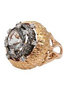 #FedericaRettore Prasiolite Ring - Jewelry Gallery At Marissa Collections - Farfetch.com