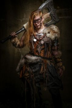 eponacosplay:  Another kick ass picture of my barbarian Rhona     Wow. Congrats to model and photographer (I think they're one and the same, I'm not entirely sure, double congrats to Epona if that's a self-portrait).