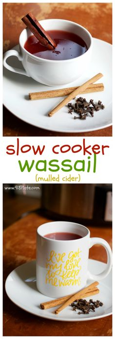 Complete the holiday season with this warm mulled slow cooker wassail recipe, sure to warm both your insides and soul!