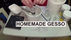 Re make of the Homemade Gesso recipe Lets save money loads of money and make our own gesso this little video will SAVE YOU so much please watch and enjoy thi. Acrylic Painting Tips, Acrylic Painting For Beginners, Homemade Art, How To Make Homemade, Art Tutorials, Painting Tutorials, Mixed Media Canvas, Diy Arts And Crafts, Acrylic Pouring