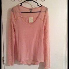 New lucky brand pink sweater New light weight pink sweater. new never worn Lucky Brand Sweaters V-Necks