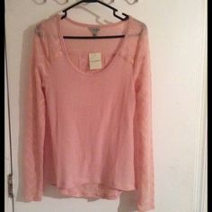 New lucky brand pink sweater New light weight pink sweater. new never worn Lucky Brand Sweaters V-Necks