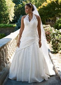 Taffeta;A-line gown is sophisticated and unique.  Beaded-lace appliques