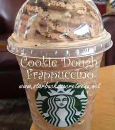 Cookie dough Frappuccino!! I must try this! I love cookie dough
