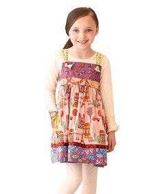 Matilda Jane Clothing Pink City of Lights Knot Dress - Infant, Toddler & Girls | zulily