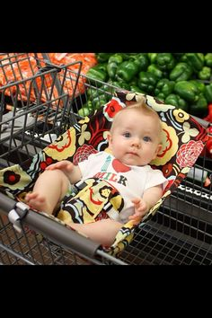 Ohmygosh adorable! Looks comfy :) Shopping cart hammock by Binxy Baby