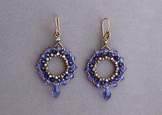 Beaded Earrings Tutorial Peacock Earrings di ByAllBeads su Etsy