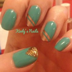 New blog post on Keelys Nails: Copper and Green - spring manicure