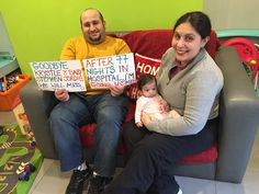 A happy goodbye! After spending 77 nights in hospital, baby Jordie is ready to go home with her family!