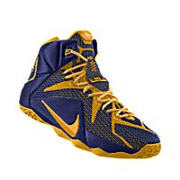 blue and gold basketball shoes