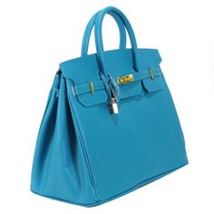 "Color options:  Turquoise     Color Class: Blue     Style:Satchel/ Top handle     Construction: 100% Genuine Leather     Exterior: Blue leather with natural leather interior     Entry:  Top  entry with turn lock closure     Lining:  Tan leather     Handles: Two top handles D:5""     Bag dimensions:  W 16""x H13""x D8""     Exterior pockets:  none     One zippered interior pocket and accessory pocket     Bottom feet: yes     No dustbag"