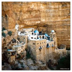 St. George's Monastery is located in Wadi Qelt, in West Bank not far from Jericho.