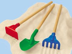 Lakeshore block play people complete set can purchase for Gardening tools preschool