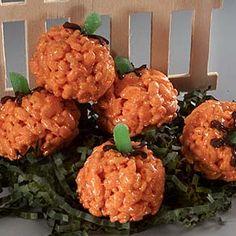 Crispy Rice Pumpkin Treats
