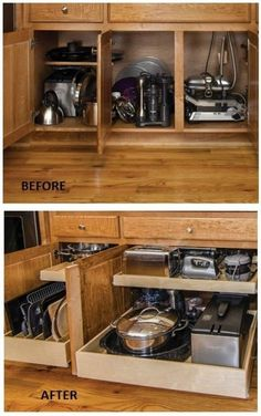 DIY Camper Ideas Space Saving and Become Better Camping Trailers; DIY Camper Van, Camping Trailers or RV Hacks Remodel and Makeover is a good choice to make it better camping trailers. Kitchen Drawer Organization, Diy Kitchen Storage, Kitchen Organizers, Rv Organization, Kitchen Hacks, Kitchen Cabinetry, Kitchen Shelves, Kitchen Appliances, Diy Home