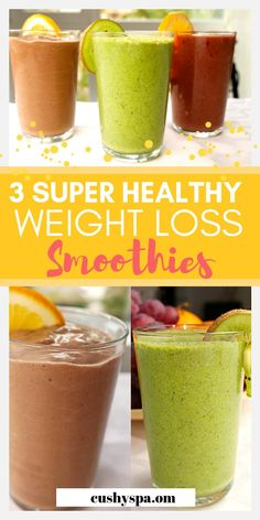 Weight Loss Smoothies Discover 3 Super Healthy Smoothies to Start Your Morning With Here are 3 weight loss smoothies for someone who wants to lose weight. These smoothies are high in protein high in fats! Truly good smoothies for weight loss. Weight Loss Meals, Weight Loss Drinks, Weight Loss Smoothies, Healthy Weight Loss, Best Smoothie, Smoothie Detox, Yummy Smoothies, Smoothie King, Smoothie Powder