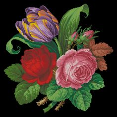Gallery.ru / Фото #22 - Тюльпан и розы - karatik