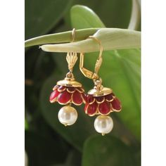 Love these Red Pachi Work Jhumka